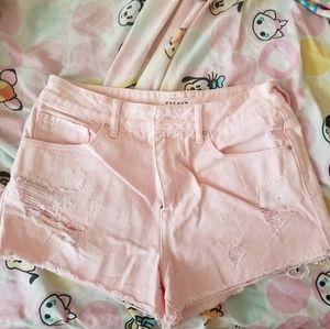NWOT Pacsun High Rise Distressed Denim Shorts